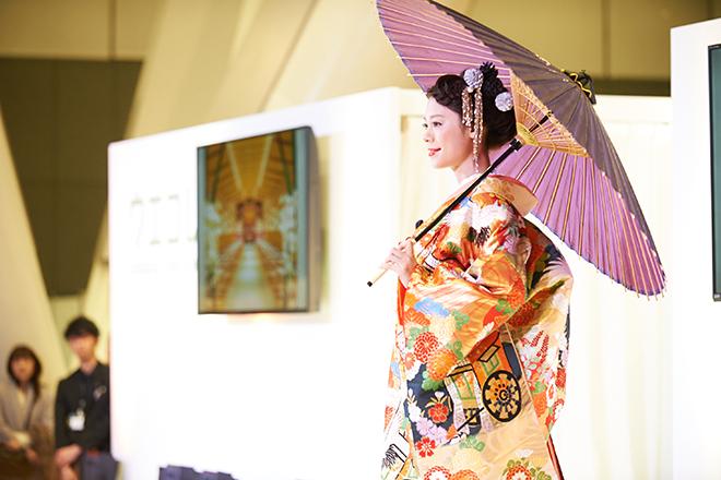 和風モダンなウェディングドレス