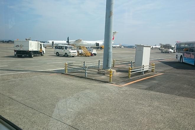 鹿児島空港をバスで移動