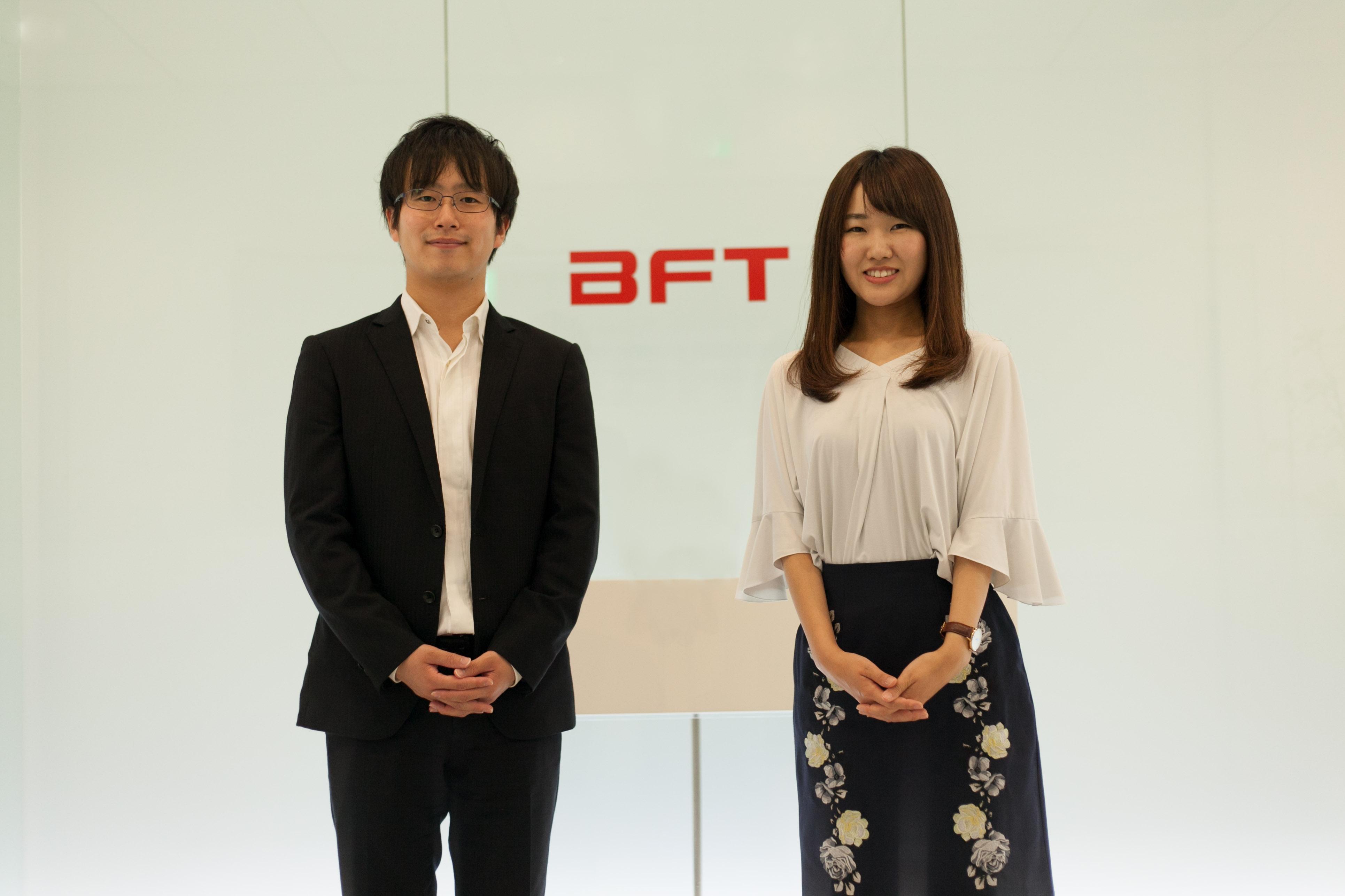 お出迎えしてくれたBFT社員の佐藤さんと福田さん