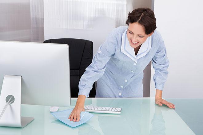 机を拭くときに、その先にお客様が見えるかが大事