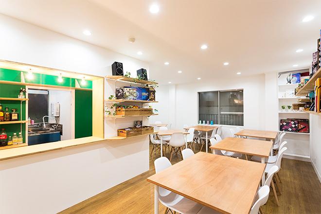 ボードゲームカフェ「ロンドン」の店内