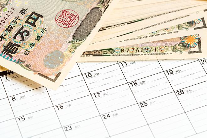 カレンダーとお金