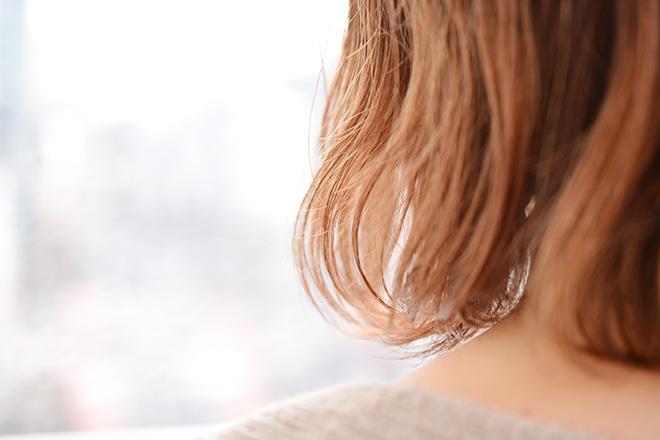 使用後の髪