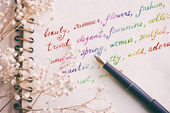万年筆&虹色のメッセージ